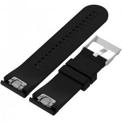 Curea ceas Smartwatch Garmin Fenix 5, 22 mm Silicon iUni Black