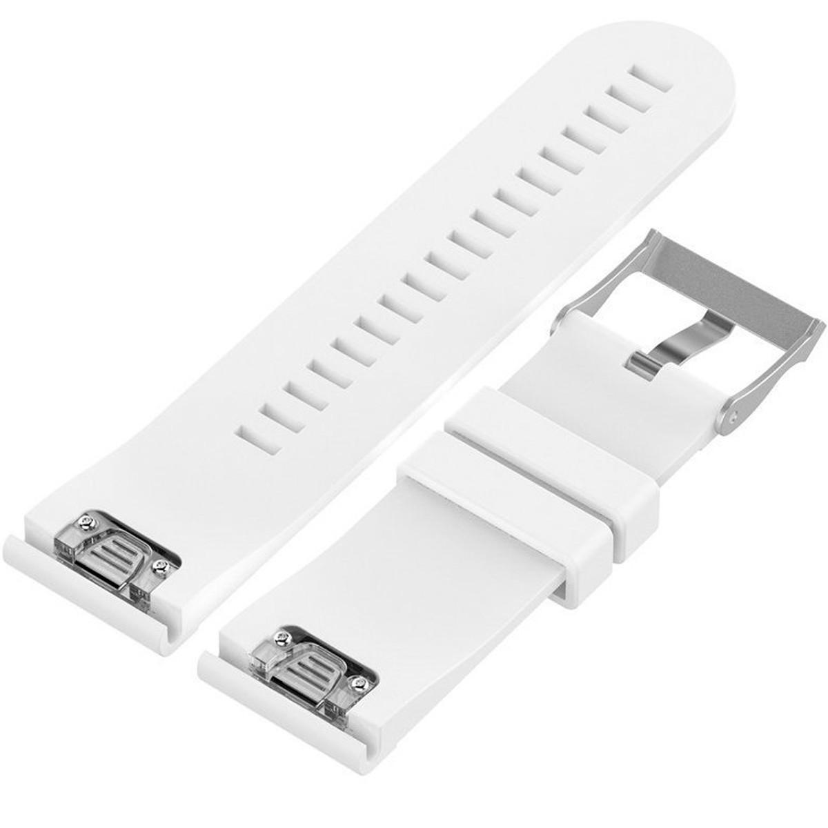 Curea ceas Smartwatch Garmin Fenix5, 22 mm Silicon iUni White