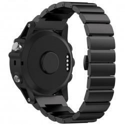 Curea ceas Smartwatch Garmin Fenix 3, 26 mm Otel inoxidabil iUni Black Link Bracelet
