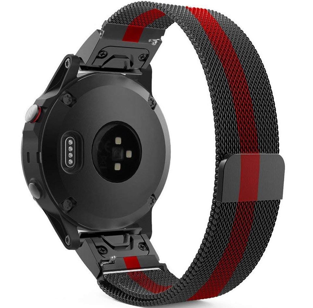 Curea ceas Smartwatch Garmin Fenix 3 / Fenix 5X, Milanese Loop iUni 26 mm Otel Inoxidabil