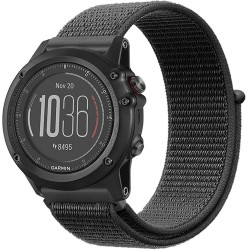 Curea ceas Smartwatch Garmin Fenix 3 / Fenix 5X, 26 mm iUni Soft Nylon Sport, Midnight Gray