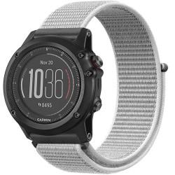 Curea ceas Smartwatch Garmin Fenix 3 / Fenix 5X, 26 mm iUni Soft Nylon Sport, White Gray