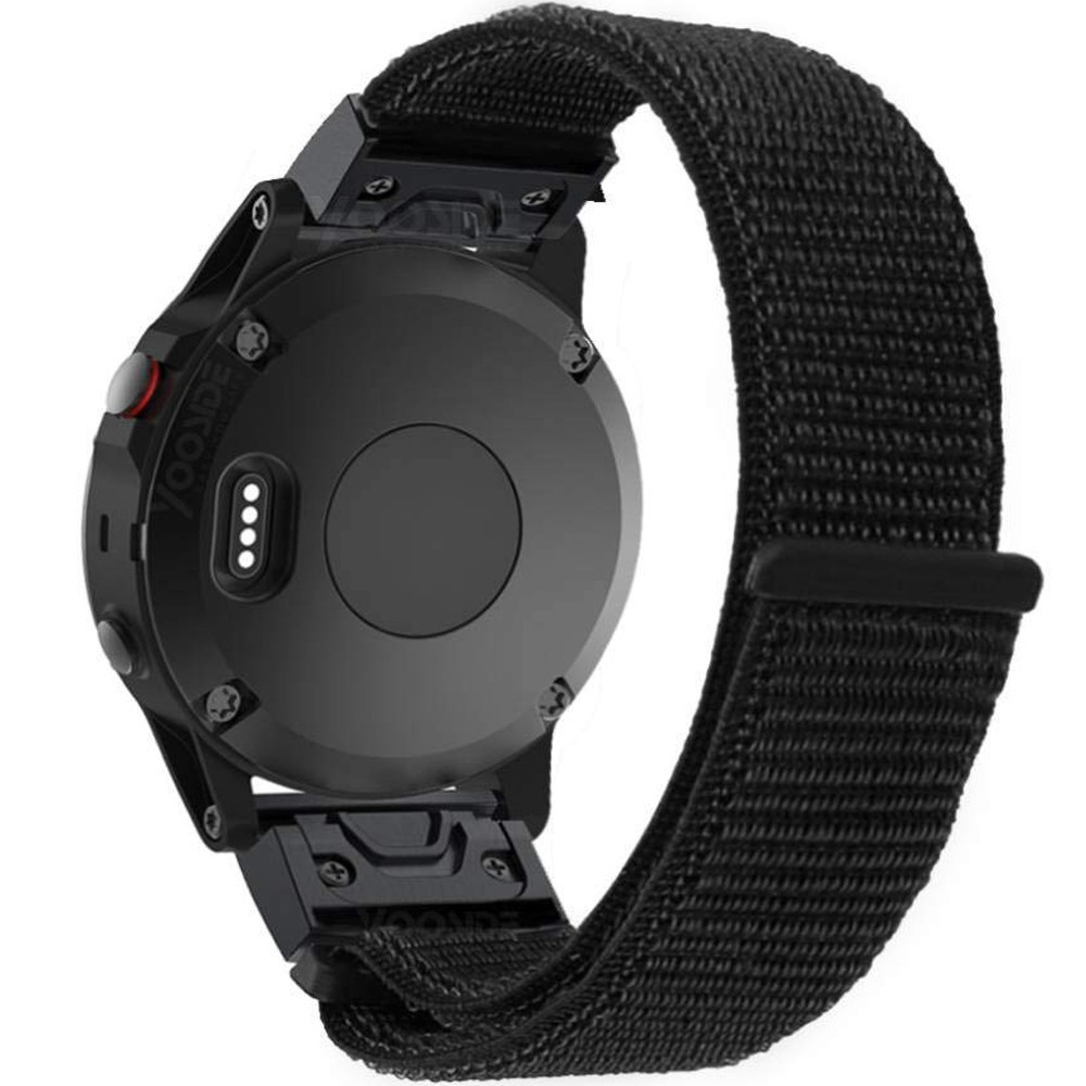 Curea ceas Smartwatch Garmin Fenix 3 / Fenix 5X, 26 mm iUni Soft Nylon Sport, Black