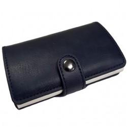 Portofel unisex, port card iUni P2, RFID, Compartiment 6 carduri, Bleumarin