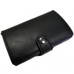 Portofel unisex, port card iUni P2, RFID, Compartiment 10 carduri, Negru