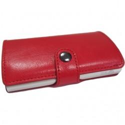 Portofel unisex, port card iUni P2, RFID, Compartiment 6 carduri, Rosu
