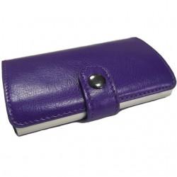 Portofel unisex, port card iUni P2, RFID, Compartiment 10 carduri, Mov