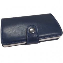 Portofel unisex, port card iUni P23, RFID, Compartiment 6 carduri, Albastru