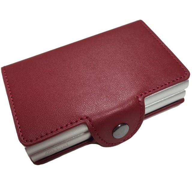 Portofel unisex, port card dublu iUni P3, RFID, 2 Compartimente 6 carduri, Rosu imagine techstar.ro 2021