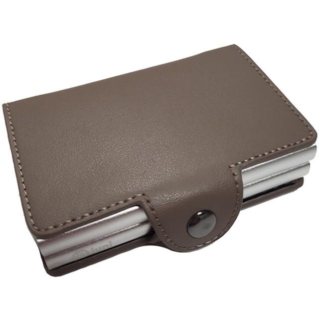 Portofel unisex, port card dublu iUni P3, RFID, 2 Compartimente 6 carduri, Bej inchis imagine techstar.ro 2021