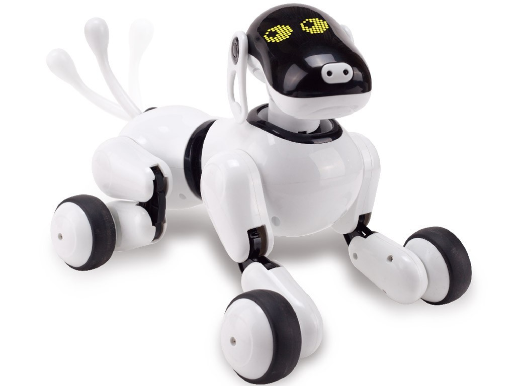 Robot Catel interactiv iUni Smart-Dog Puppy Go, 12 comenzi vocale imagine techstar.ro 2021