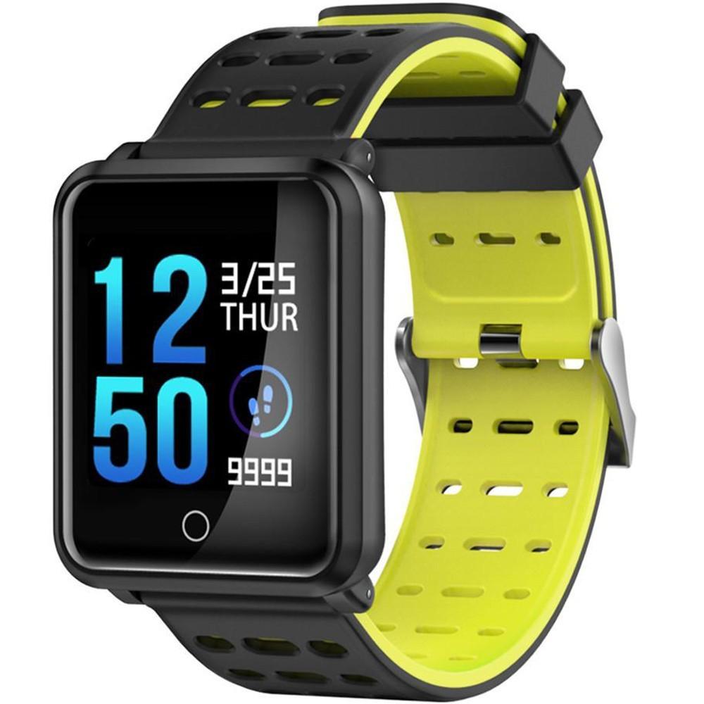 Bratara Fitness iUni M88 Plus, Display OLED, Bluetooth, Pedometru, Notificari, Android si iOS, Galben imagine techstar.ro 2021