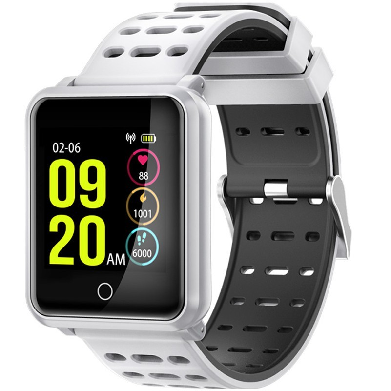 Bratara Fitness iUni M88 Plus, Display OLED, Bluetooth, Pedometru, Notificari, Android si iOS, Alb imagine techstar.ro 2021