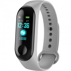 Bratara Fitness iUni N3C, Display OLED 0.96 inch, Bluetooth, Pedometru, Notificari, Gri