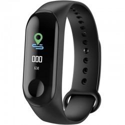 Bratara Fitness iUni N3C, Display OLED 0.96 inch, Bluetooth, Pedometru, Notificari, Negru