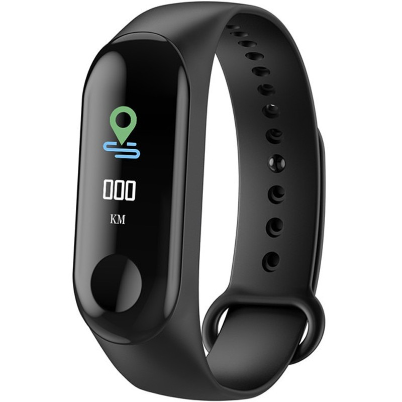 Bratara Fitness iUni N3C, Display OLED 0.96 inch, Bluetooth, Pedometru, Notificari, Negru