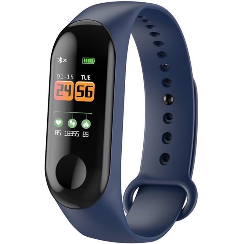 Bratara Fitness iUni N3C, Display OLED 0.96 inch, Bluetooth, Pedometru, Notificari, Albastru imagine techstar.ro 2021