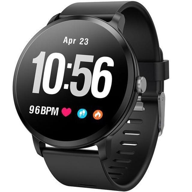Bratara Fitness iUni V11, Display 1.3 inch, Full Color OLED, Pedometru, Monitorizare Puls, Notificari, Negru