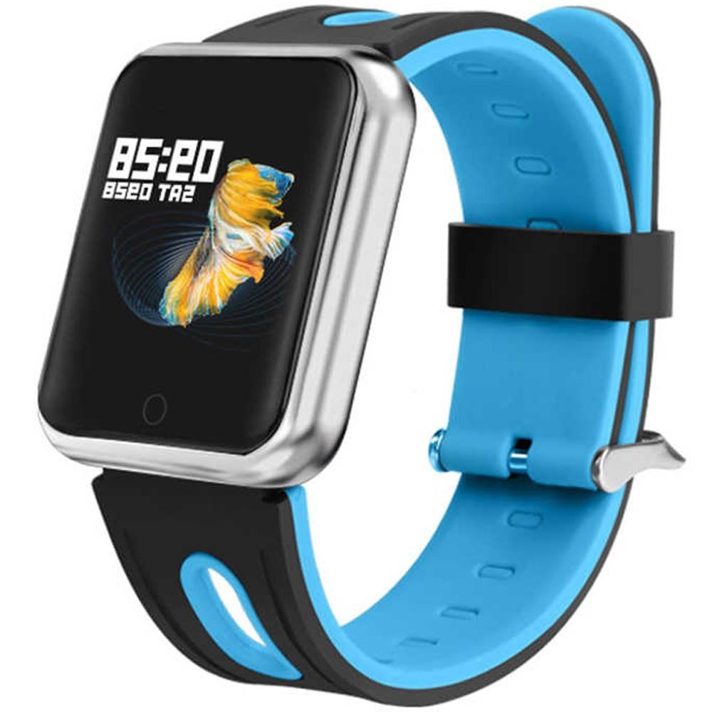 Bratara Fitness iUni P68, Display 1.3 inch IPS Color, Pedometru, Monitorizare Puls, Notificari, Negru-Albastru imagine techstar.ro 2021