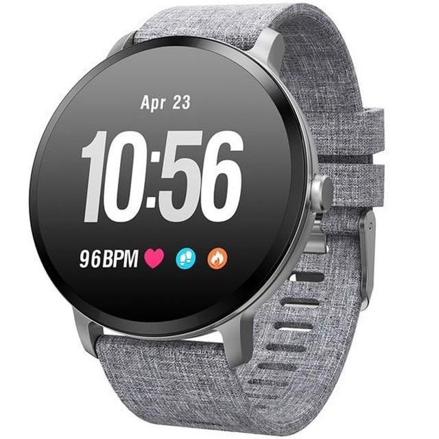 Bratara Fitness iUni V11, Display 1.3 inch, Full Color OLED, Pedometru, Monitorizare Puls, Notificari, Gri imagine techstar.ro 2021