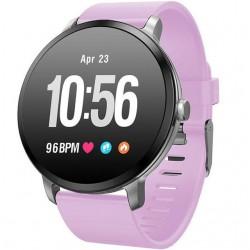 Bratara Fitness iUni V11, Display 1.3 inch, Full Color OLED, Pedometru, Monitorizare Puls, Notificari, Mov