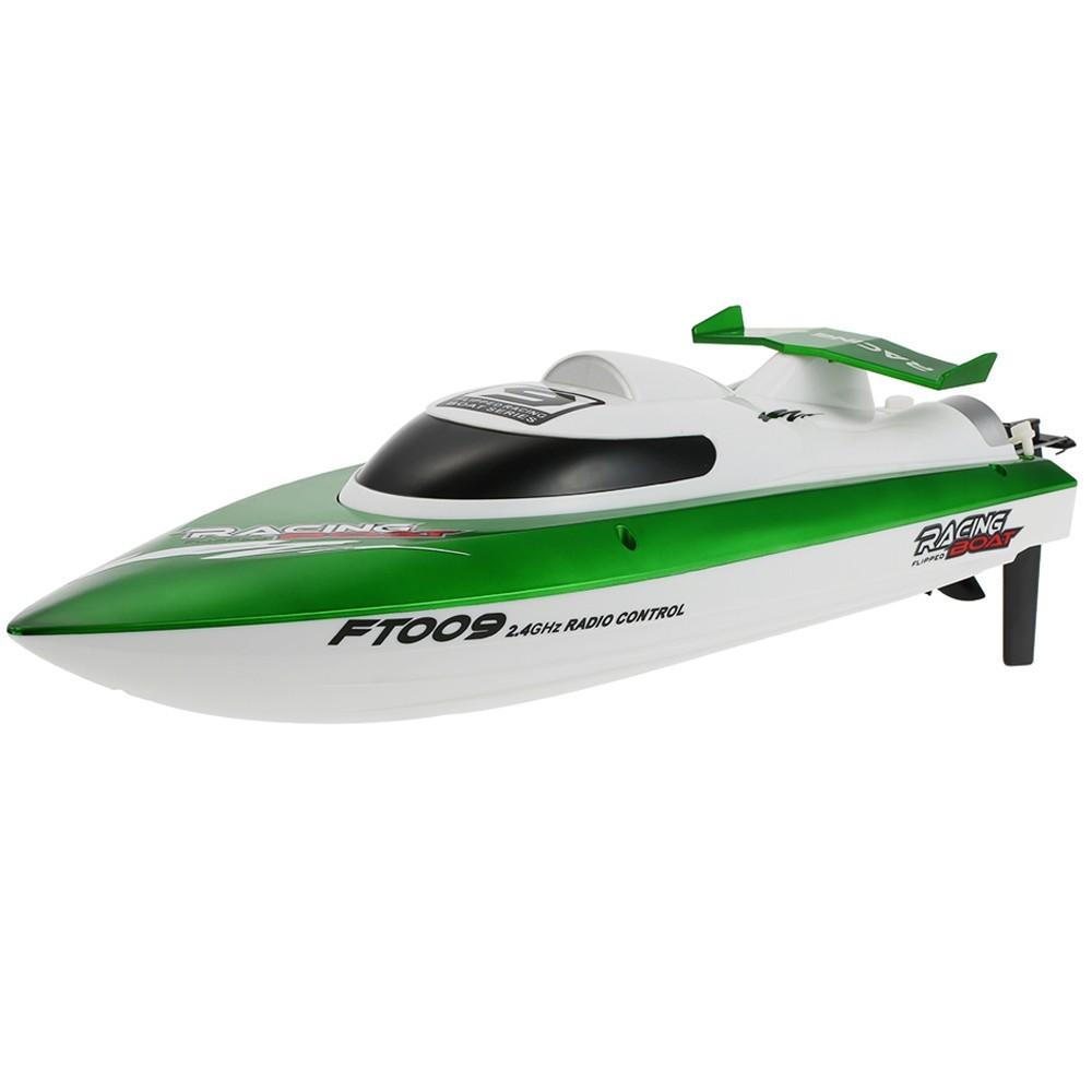 Barca cu telecomanda iUni FT009 Top Speed Racing Flipped Boat, Verde imagine techstar.ro 2021