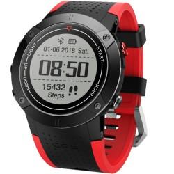 Smartwatch iUni DM18, Standby time 30 zile, GPS, BT, OLED, Rezistent la apa, Red