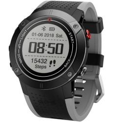 Smartwatch iUni DM18, Standby time 30 zile, GPS, BT, OLED, Rezistent la apa, Black
