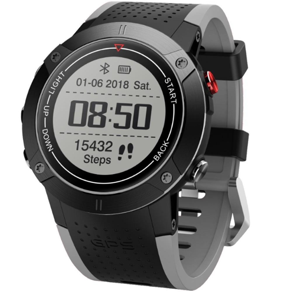 Smartwatch iUni DM18, Standby time 30 zile, GPS, BT, OLED, Rezistent la apa, Gray
