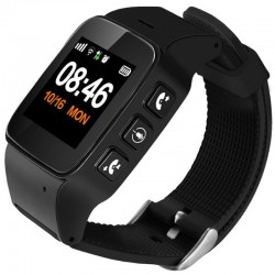 Ceas GPS Copii si Seniori iUni U100 Plus, Telefon incorporat, Display Color, Wi-fi, Buton SOS, Black
