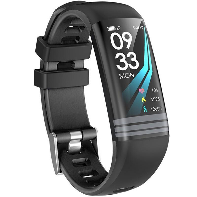 Bratara Fitness iUni G26, Display OLED 0.96 inch, Bluetooth, Pedometru, Notificari, Negru imagine techstar.ro 2021