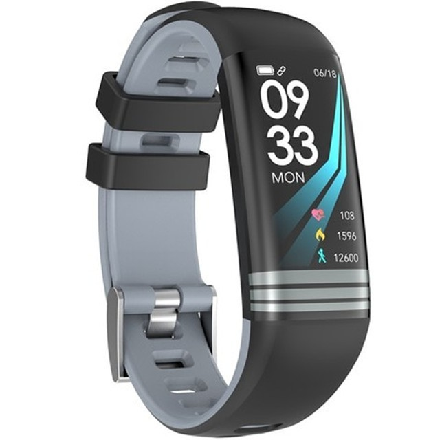 Bratara Fitness Iuni G26, Display Oled 0.96 Inch, Bluetooth, Pedometru, Notificari, Gri