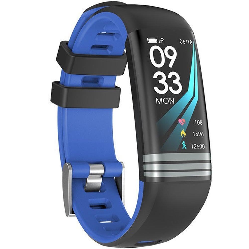 Bratara Fitness iUni G26, Display OLED 0.96 inch, Bluetooth, Pedometru, Notificari, Albastru