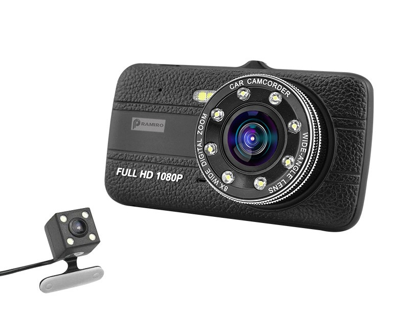 Camera Video Auto Novatek T800 Dubla 8 Led-uri Nightvision tip LED FullHD 12MPx si Display 4