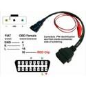 Cablu Adaptor OBD2 in Fiat 3pin Alfa Lancia