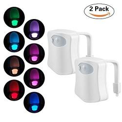 Pachet Promo 2 x Senzor LED Pentru Capac Toaleta MultiColor cu Senzor de Miscare
