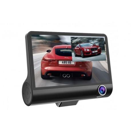 """Camera Video Auto Dubla FullHD cu Ecran Urias de 4"""" Z10 si Unghi de 170°"""