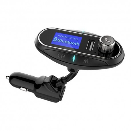 Modulator FM Auto Transmitator T12 Hands Free cu Bluetooth 3.0, Aux, Dual USB, Car Kit Mp3 Player