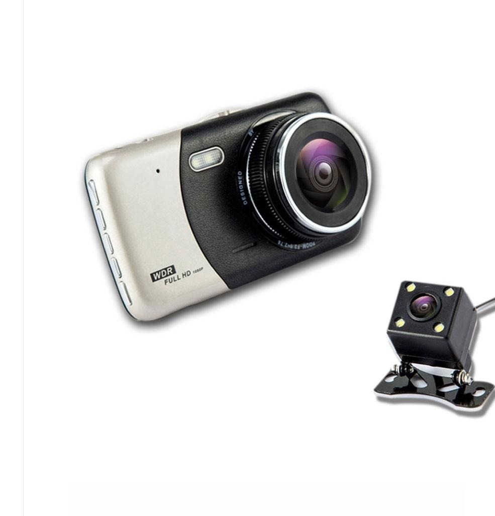 Camera Video Auto Dubla T810 FullHD Cu Functia WDR si Ecran IPS 4inch