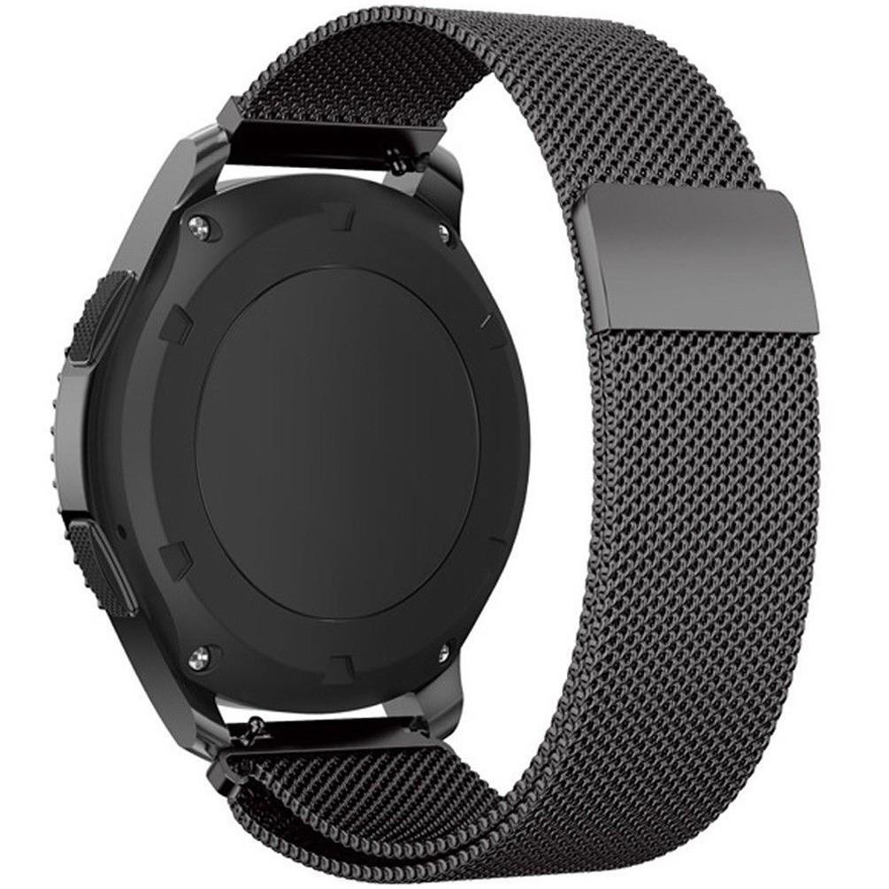 Curea ceas Smartwatch Samsung Gear S2 Black Milanese Loop, iUni 20 mm Otel Inoxidabil