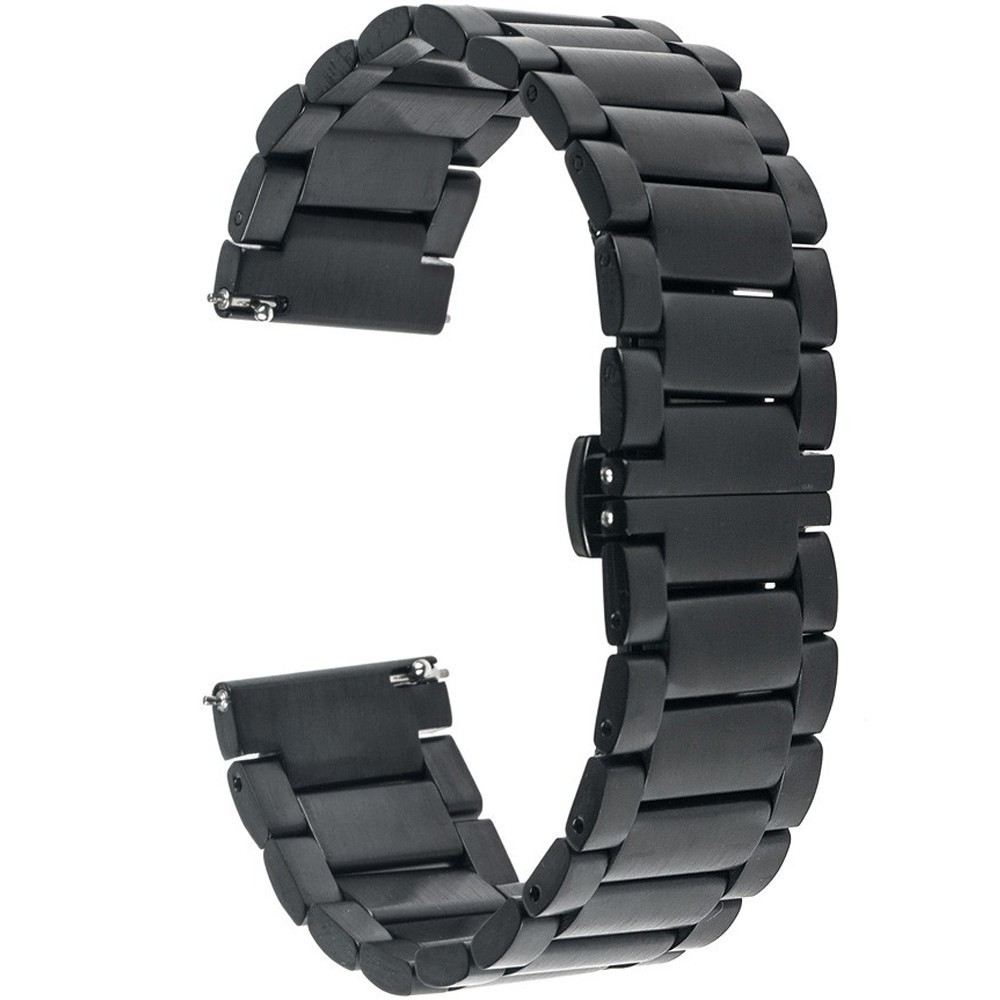 Curea ceas Smartwatch Samsung Gear S2, iUni 20 mm Otel Inoxidabil, Black