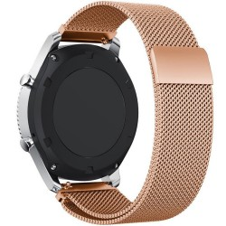 Curea ceas Smartwatch Samsung Gear S2 Rose Gold Milanese Loop, iUni 20 mm Otel Inoxidabil