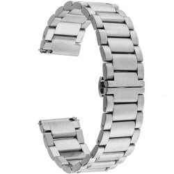 Curea ceas Smartwatch Samsung Gear S2, iUni 20 mm Otel Inoxidabil, Silver