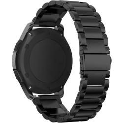 Curea metalica Smartwatch Samsung Gear S3, iUni 22 mm Otel Inoxidabil, Black