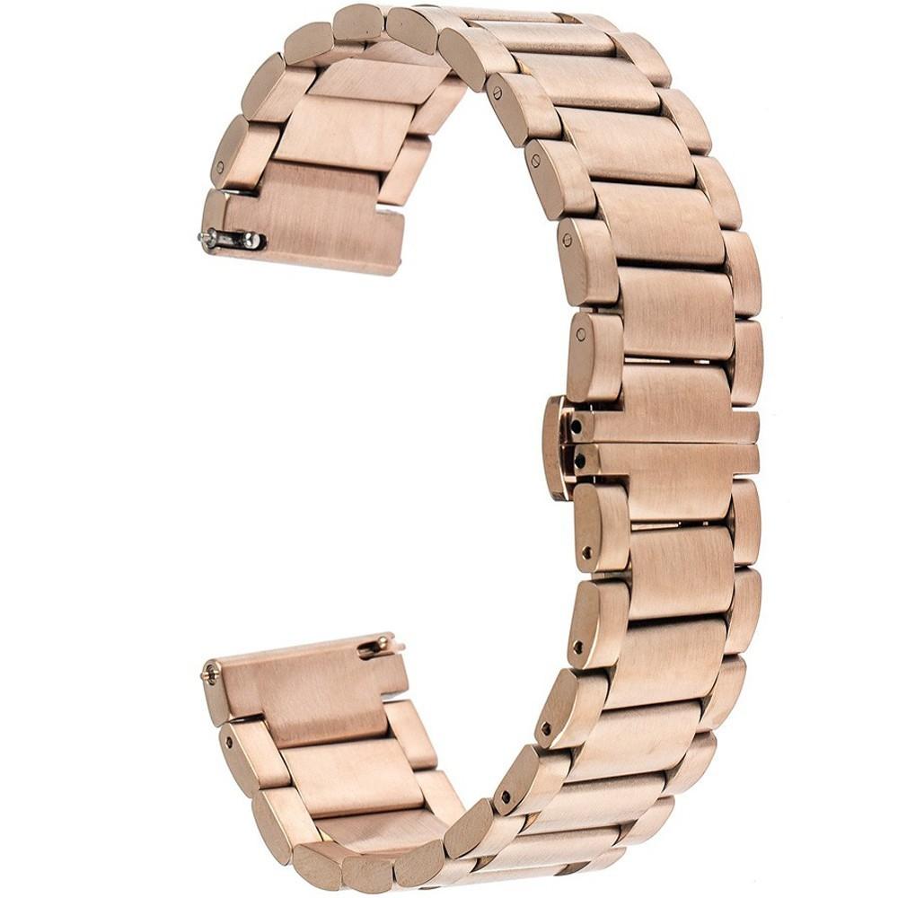 Curea ceas Smartwatch Samsung Gear S2, iUni 20 mm Otel Inoxidabil, Rose Gold