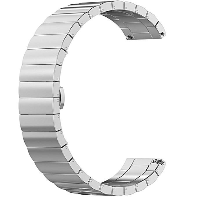 Curea metalica Smartwatch Samsung Gear S2, iUni 20 mm Otel Inoxidabil Silver Link Bracelet