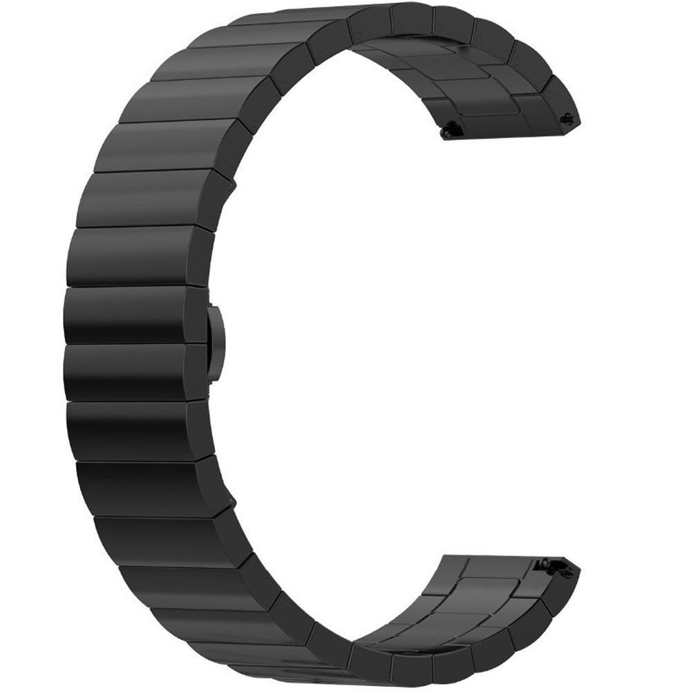Curea metalica Smartwatch Samsung Gear S2, iUni 20 mm Otel Inoxidabil Black Link Bracelet