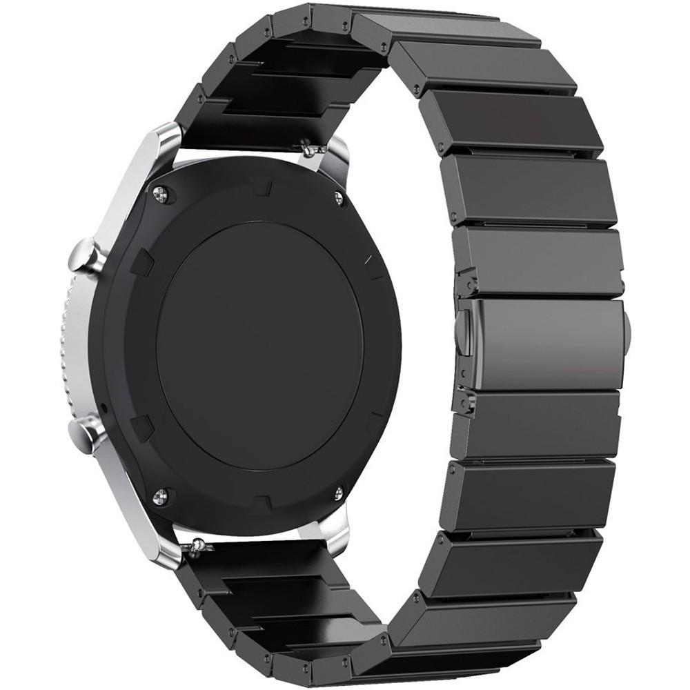 Curea pentru Smartwatch Samsung Gear S2, iUni 20 mm Otel Inoxidabil Black Link Bracelet
