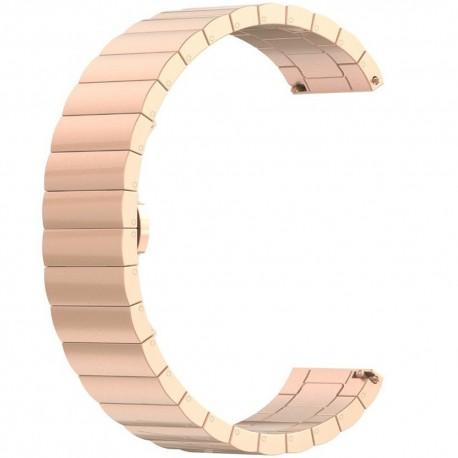 Curea metalica Smartwatch Samsung Gear S2, iUni 20 mm Otel Inoxidabil Rose Gold Link Bracelet