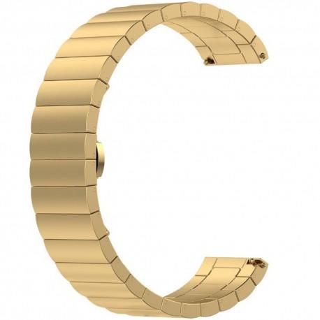 Curea metalica Smartwatch Samsung Gear S3, iUni 22 mm Otel Inoxidabil Gold Link Bracelet
